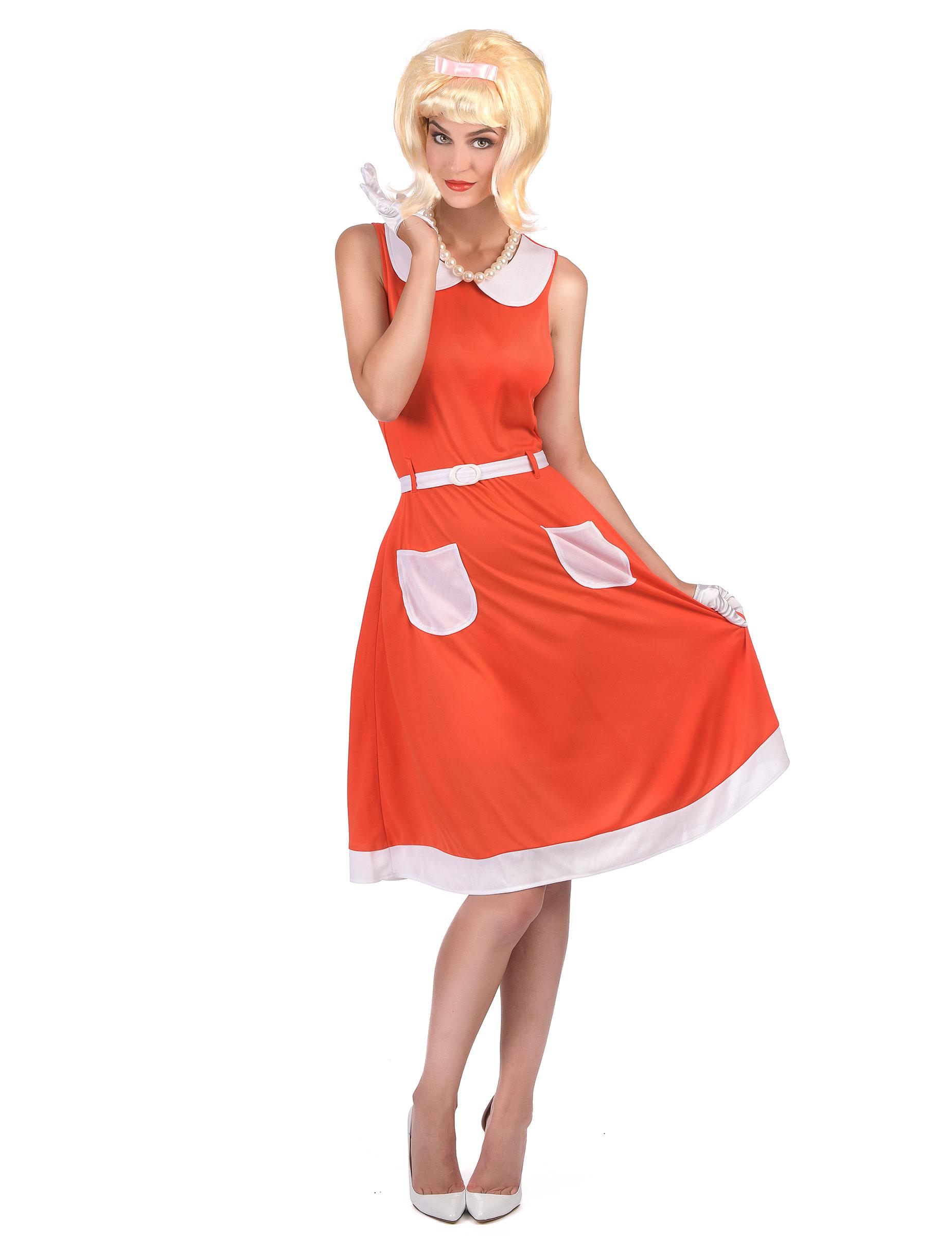 Vintage klänning till 50- och 60-talsmaskeraden för vuxna f9228aeac8e9f