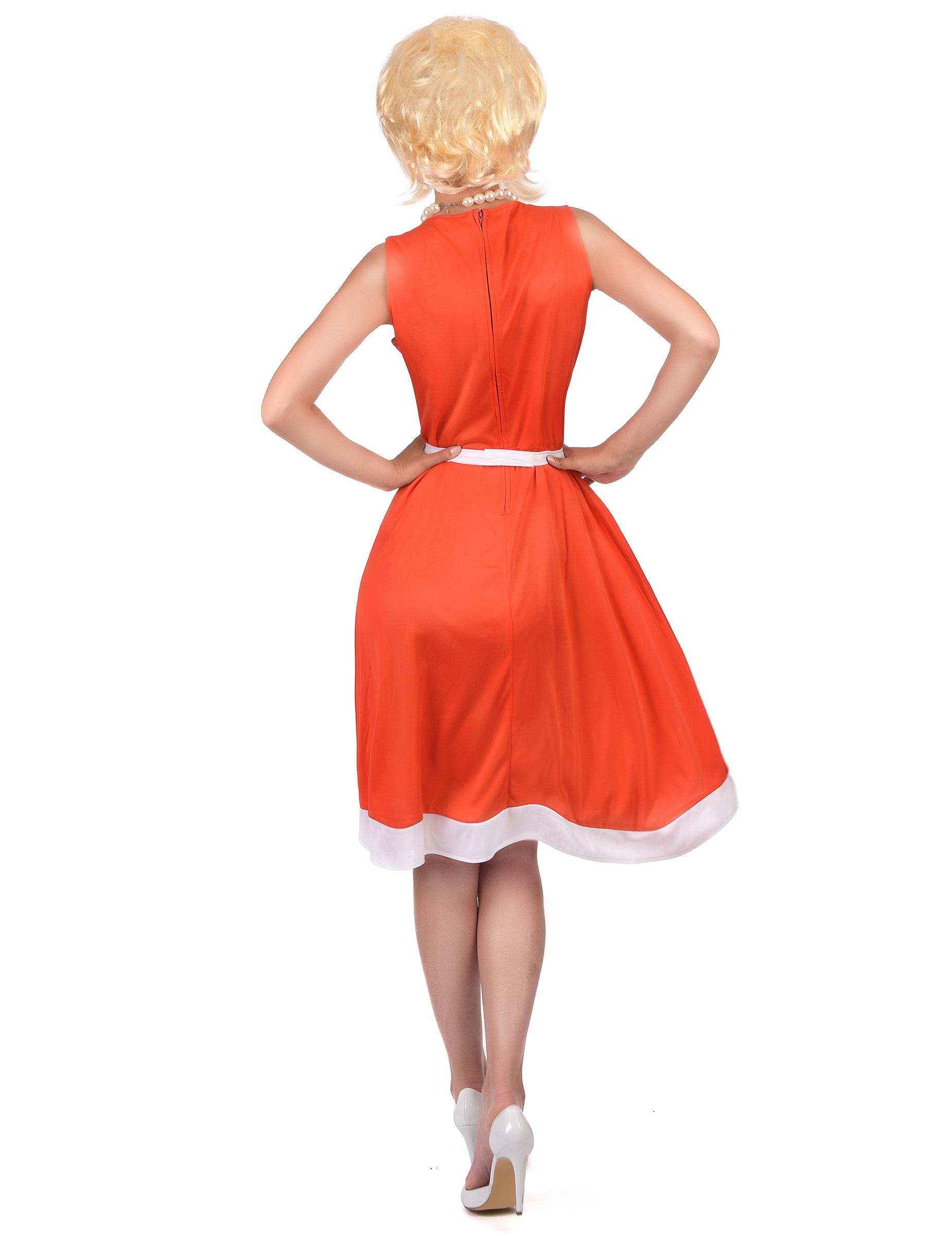 Vintage klänning till 50- och 60-talsmaskeraden för vuxna-2 bcb915cbaa0fa