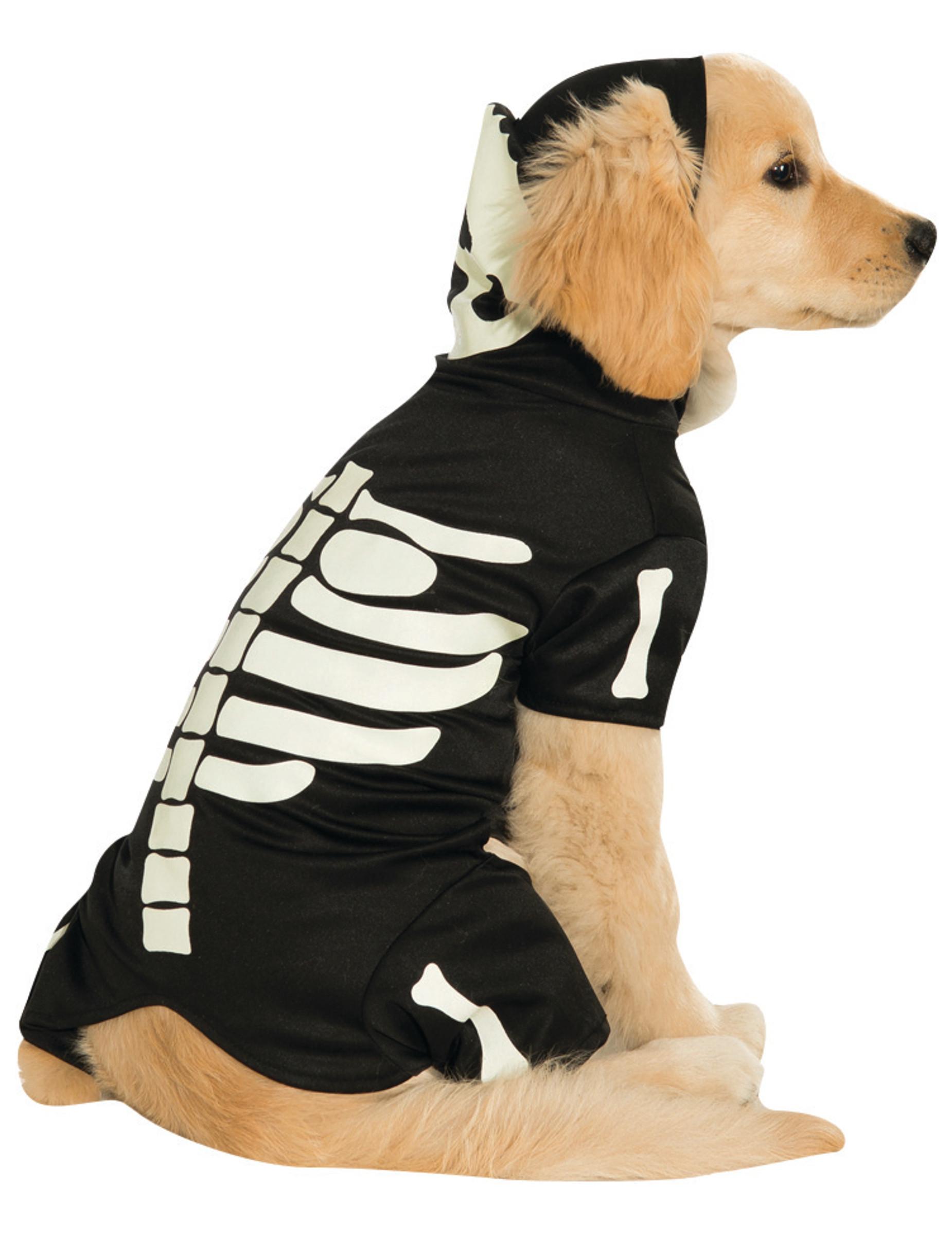 Självlysande skelettdräkt för hundar till Halloween f03052dd9ce00