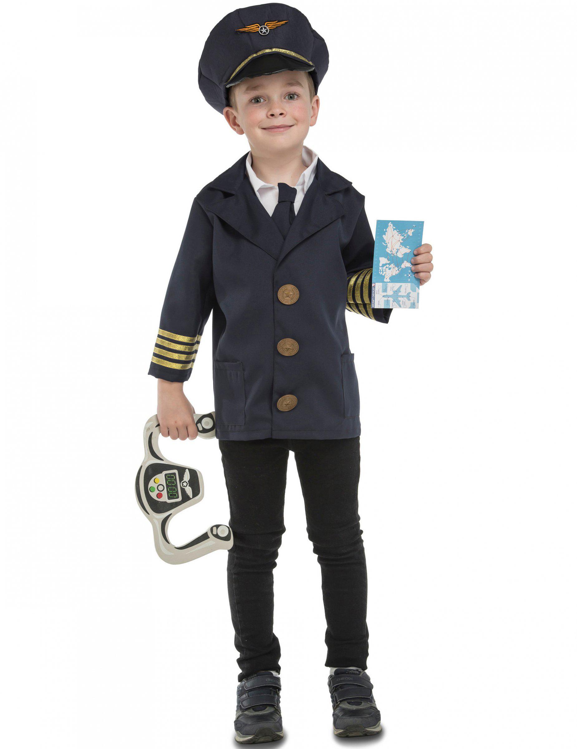 Duktig Pilot - Maskeraddräkt med tillbehör för barn f4d883545f247