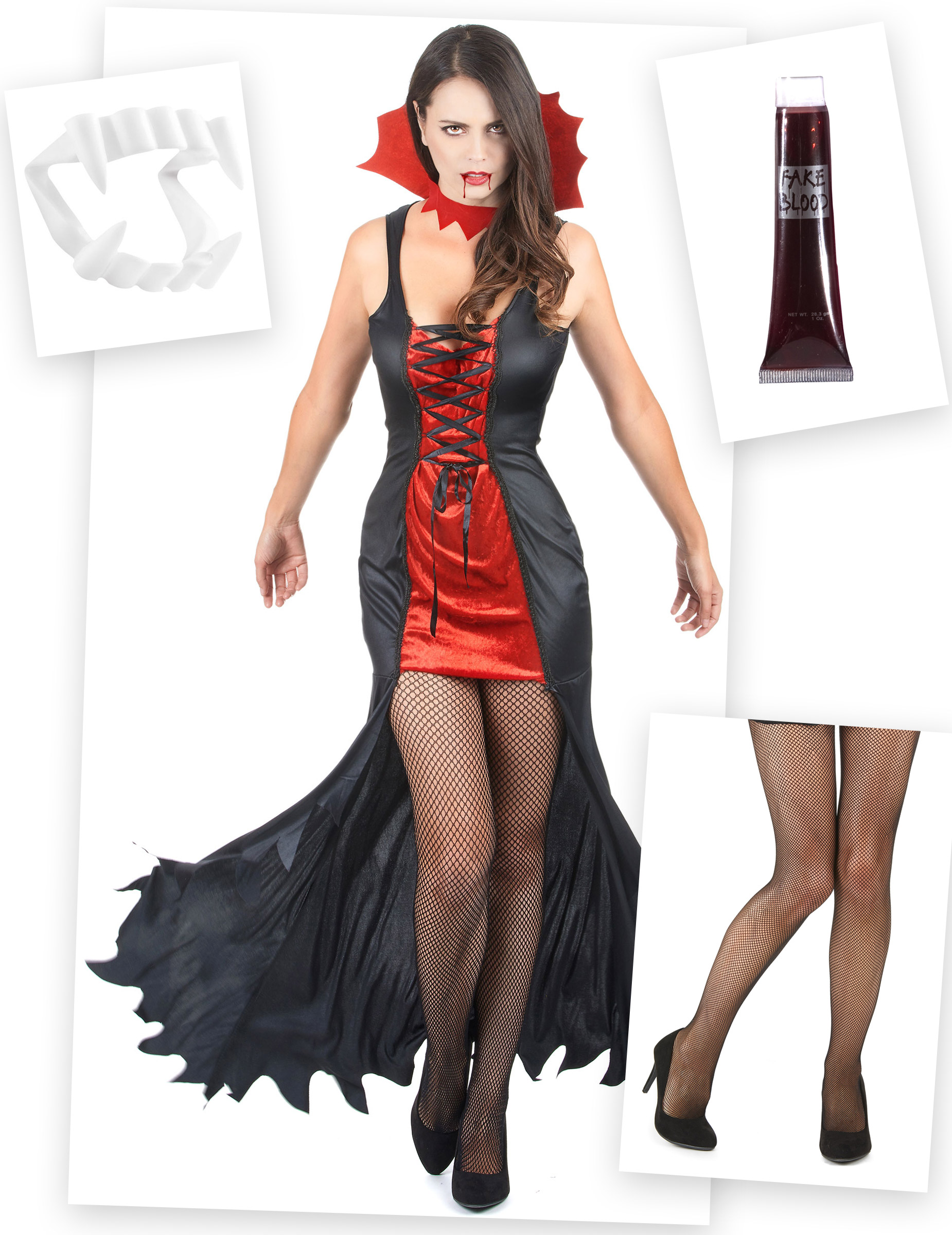 Allt för att bli vampyr - Komplett Halloweenkit för vuxna 0b587e5faa11f