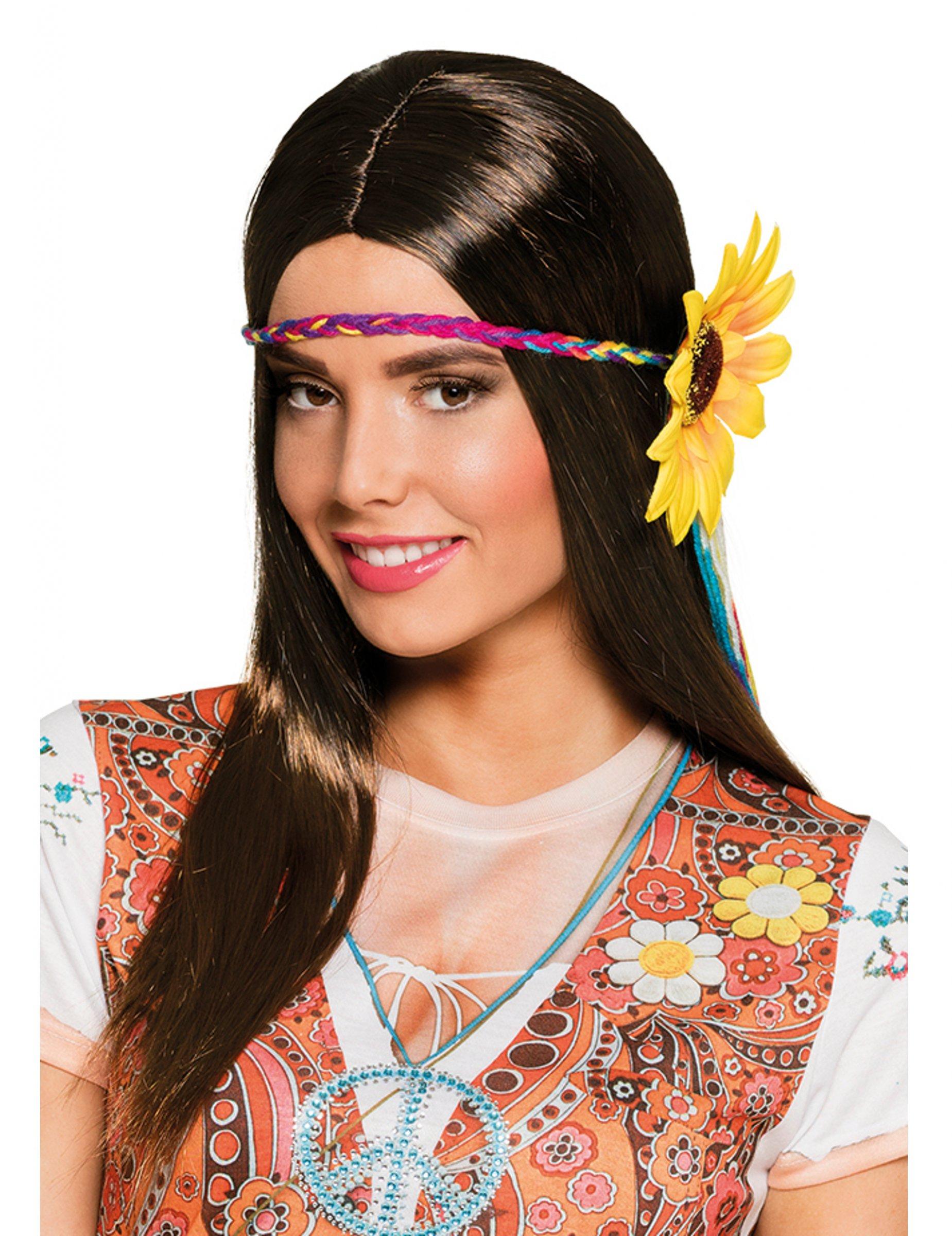 8f0edc46f0e1 Långt hår med pannband - Peruk till maskeraden, köp Peruker på Vegaoo.se