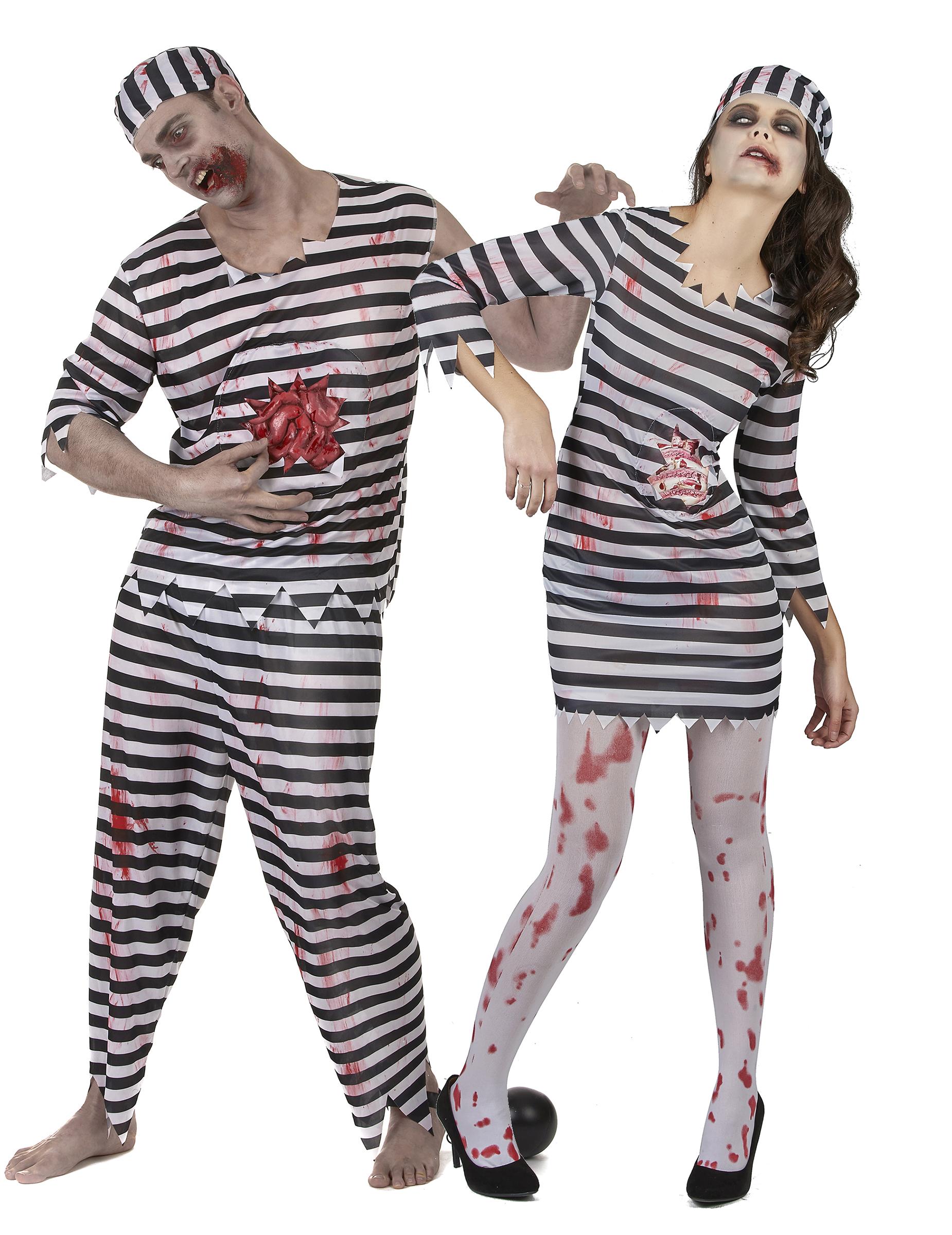 Zombie brottslingar - Halloweenkostym för par 318bab36ecb52