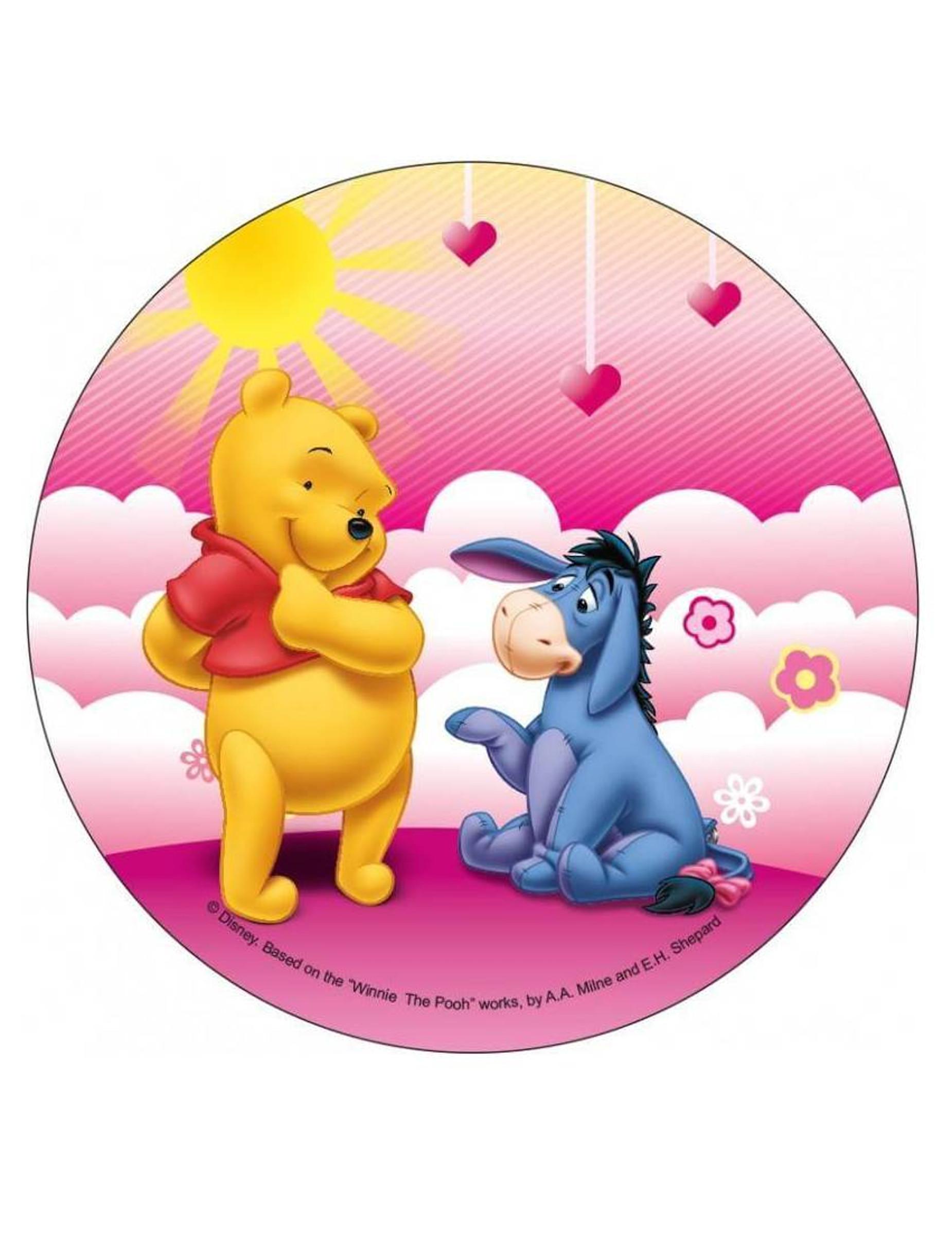 Tårtbild - Nalle Puh™ på rosa moln 326852840bd92