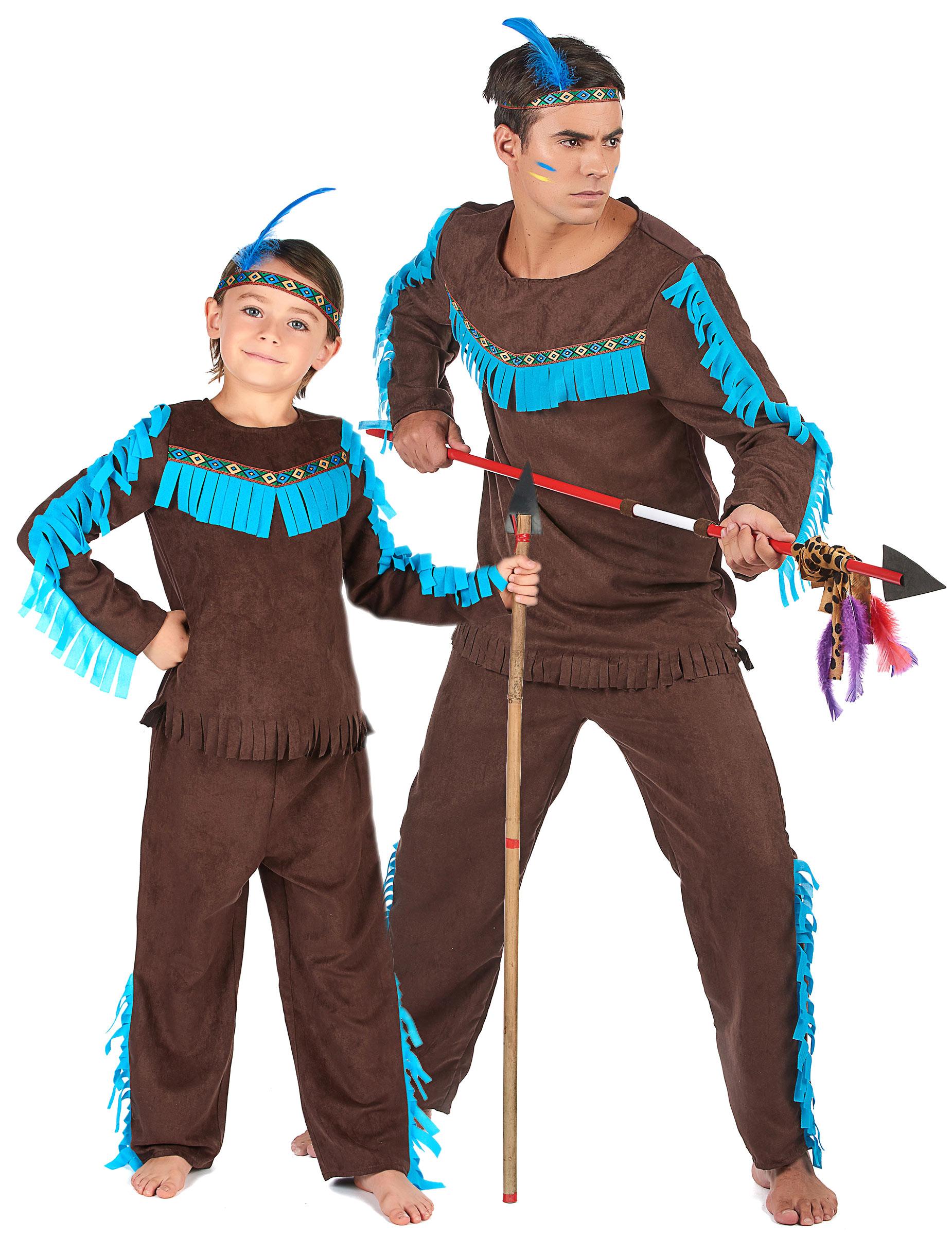 Jagande indianer - Pardräkt för vuxna och barn 91eaebaea2e2c