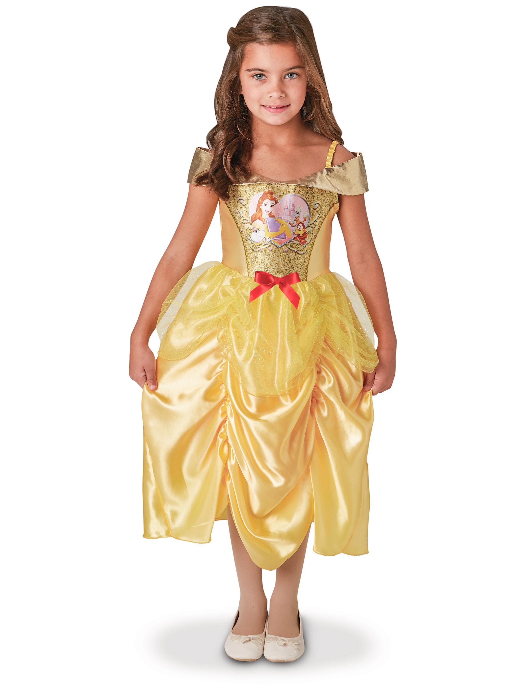 b8ba8bf7b2c5 Belle™ från Princesses Disney™ - Klassisk maskeraddräkt med paljetter för  barn