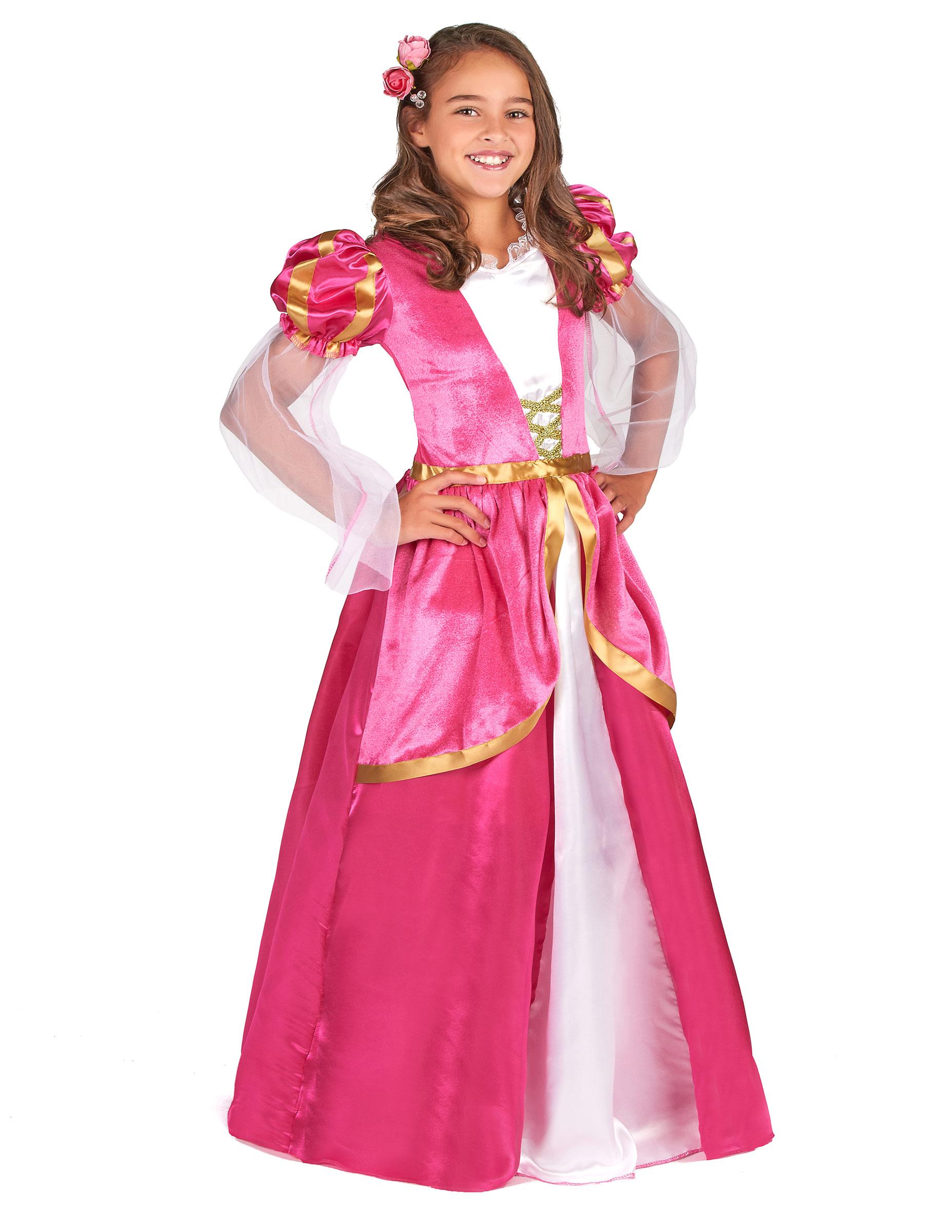 4650758795f0 Medeltida dam i rosa klänning - Maskeradkläder för barn, köp ...