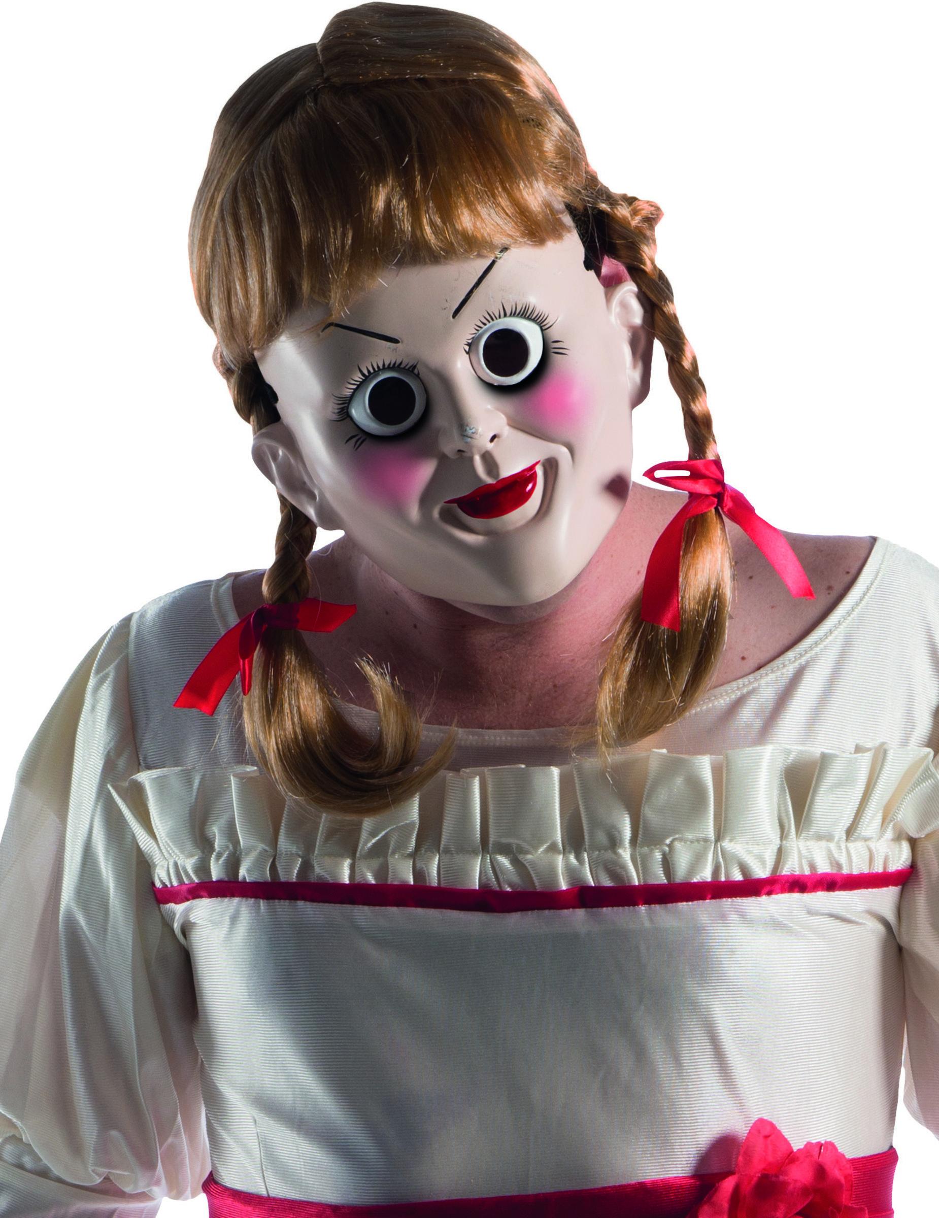Halloween Masker.Annabelle Perruk Och Mask For Vuxna Halloween Masker Kop