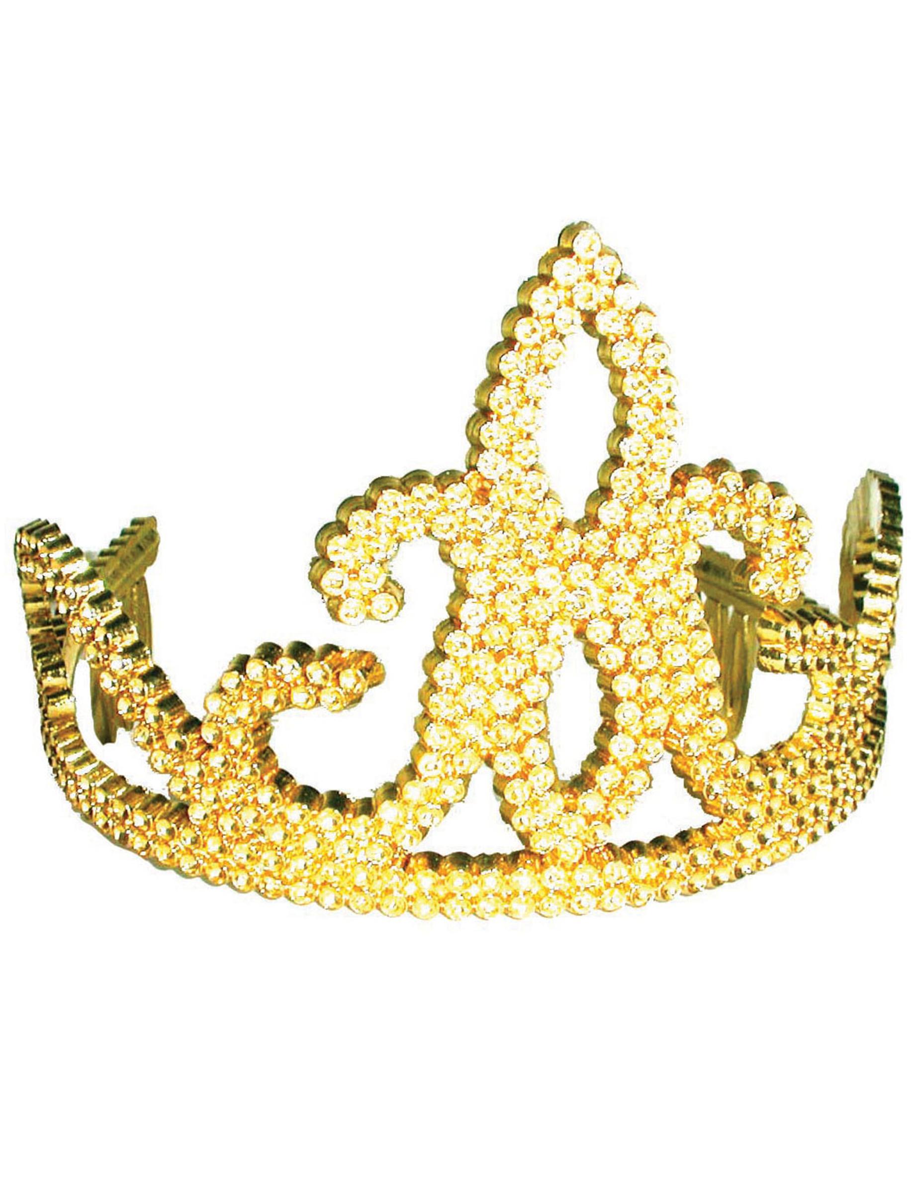Vegaoo Guldig tiara barn One-Size