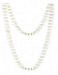 Halskedja med pärlemorfärgade pärlor