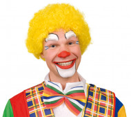 Gul afroperuk clown vuxna