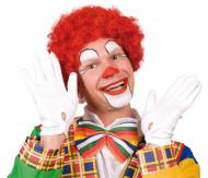 Röd afroperuk clown vuxna