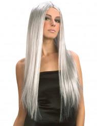 Lång grå peruk Halloween