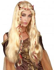 Jeanne - Blond medeltidsperuk för vuxna till maskeraden