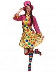 Förtjusande clowndräkt för vuxna