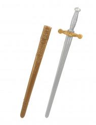 Svärd för medeltidsriddare i plast
