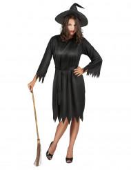 Svart häxa - Utklädnad för vuxen till Halloween