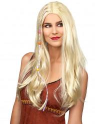 Mary Rose - Blond hippieperuk  för vuxna