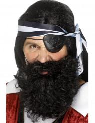 Svart piratskägg vuxna