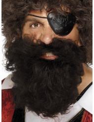 Brunt piratskägg herrar