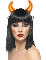 Lysande djävulshorn - Halloweentillbehör för vuxna