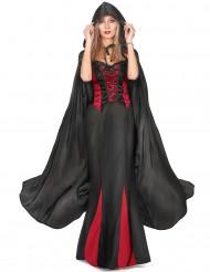 Svart vampyrcape Halloween vuxna