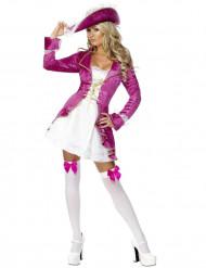 Sexig rosa kapten - Piratdräkt för vuxna till maskeraden