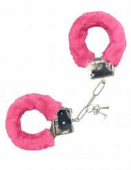 Handfängsel i rosa päls
