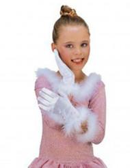 Vita flickhandskar
