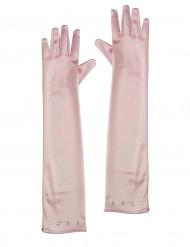 Lyxiga rosa handskar