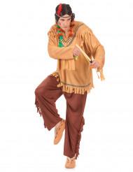 Hurrande Hermelinen - Indiandräkt i vuxenstorlek till temafesten