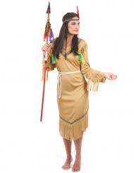 Flaxande höken - Indiandräkt för vuxna