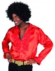 Röd discoskjorta för vuxna