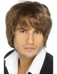 Pojkband brun peruk