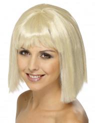 Blond peruk med lugg för vuxna