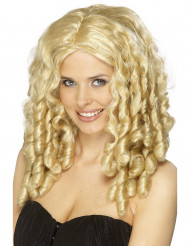 Skruvlockar - Blond peruk för vuxna till temafesten