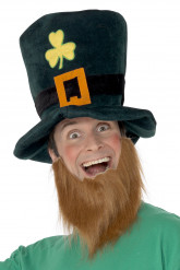Mörkgrön cylinderhatt med trköver till St. Patrick