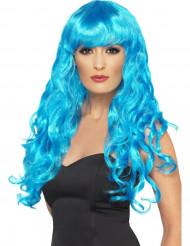 Lockig blå sjöjungfruperuk för vuxna