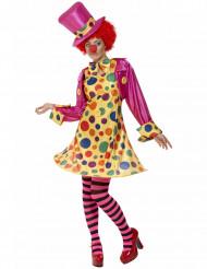 Prickig clowndräkt för vuxna till festen