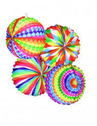 12 Runda färggranna papperslyktor till festen