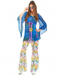 Flower Power Hippie -Maskeraddräkt för vuxna