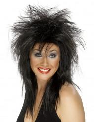 Tina - Svart rockperuk för vuxna
