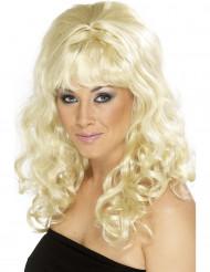 Lockig blond peruk för vuxna