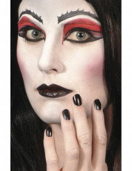 Svart läppstift och nagellack Halloween