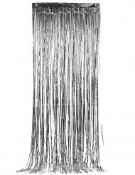 Silverglittrande dörrgardin