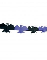 Girlang med svarta och lila fladdermöss till Halloween
