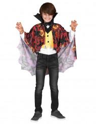 Vampyr med färgglad mantel - Utklädnad för barn till Halloween
