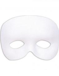 Halvtäckande mask vit vuxna