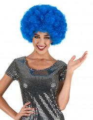 Peruk afro blå vuxen