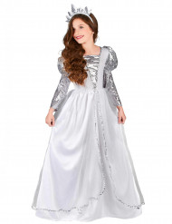 Silvervit prinsessa - utklädnad barn